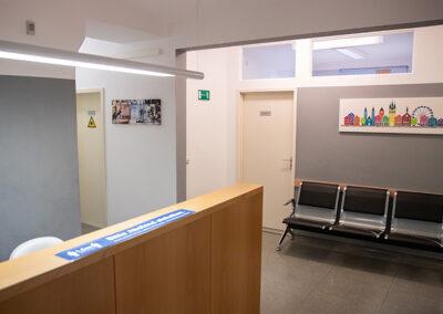 Eingangsbereich in der Praxis in Straubing